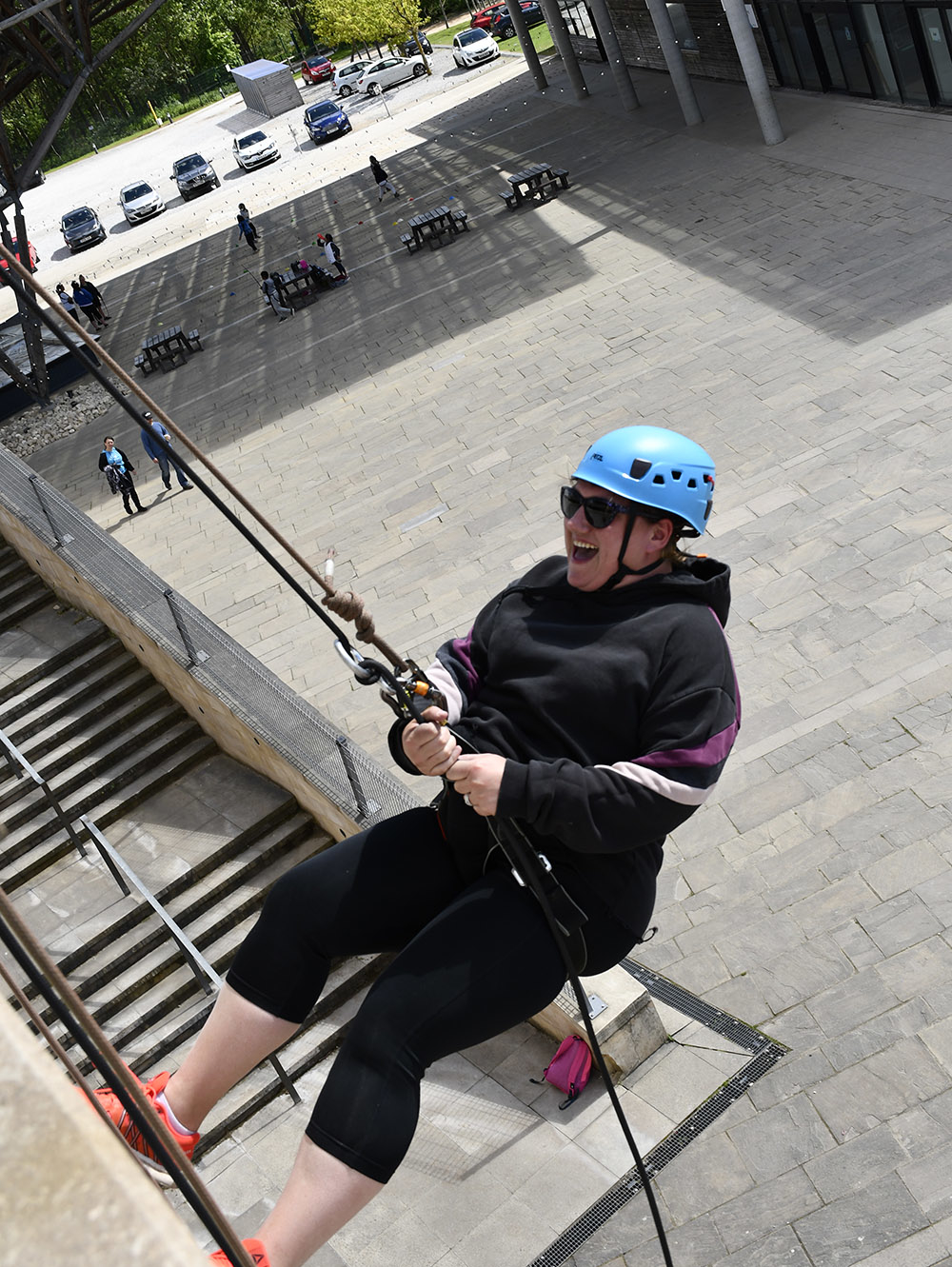 parents abseiling