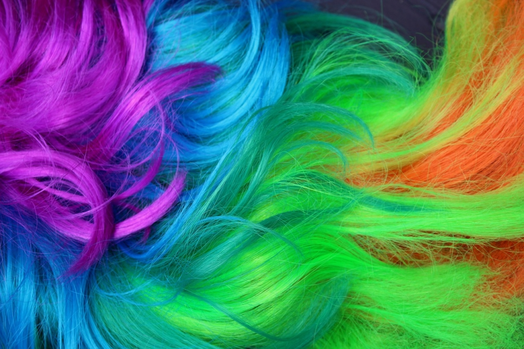 colourful wigs