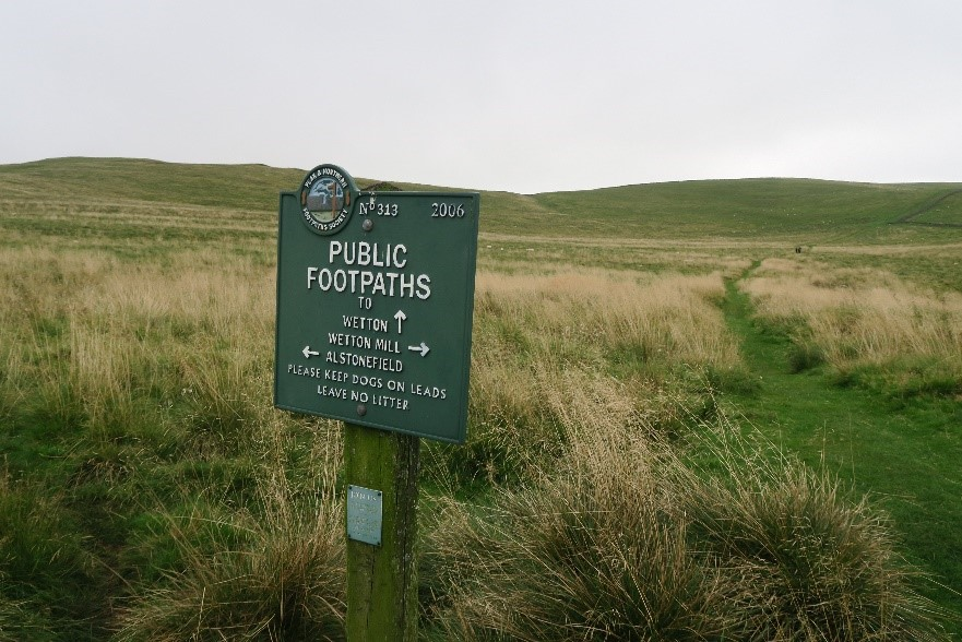 Sign in the Peak District