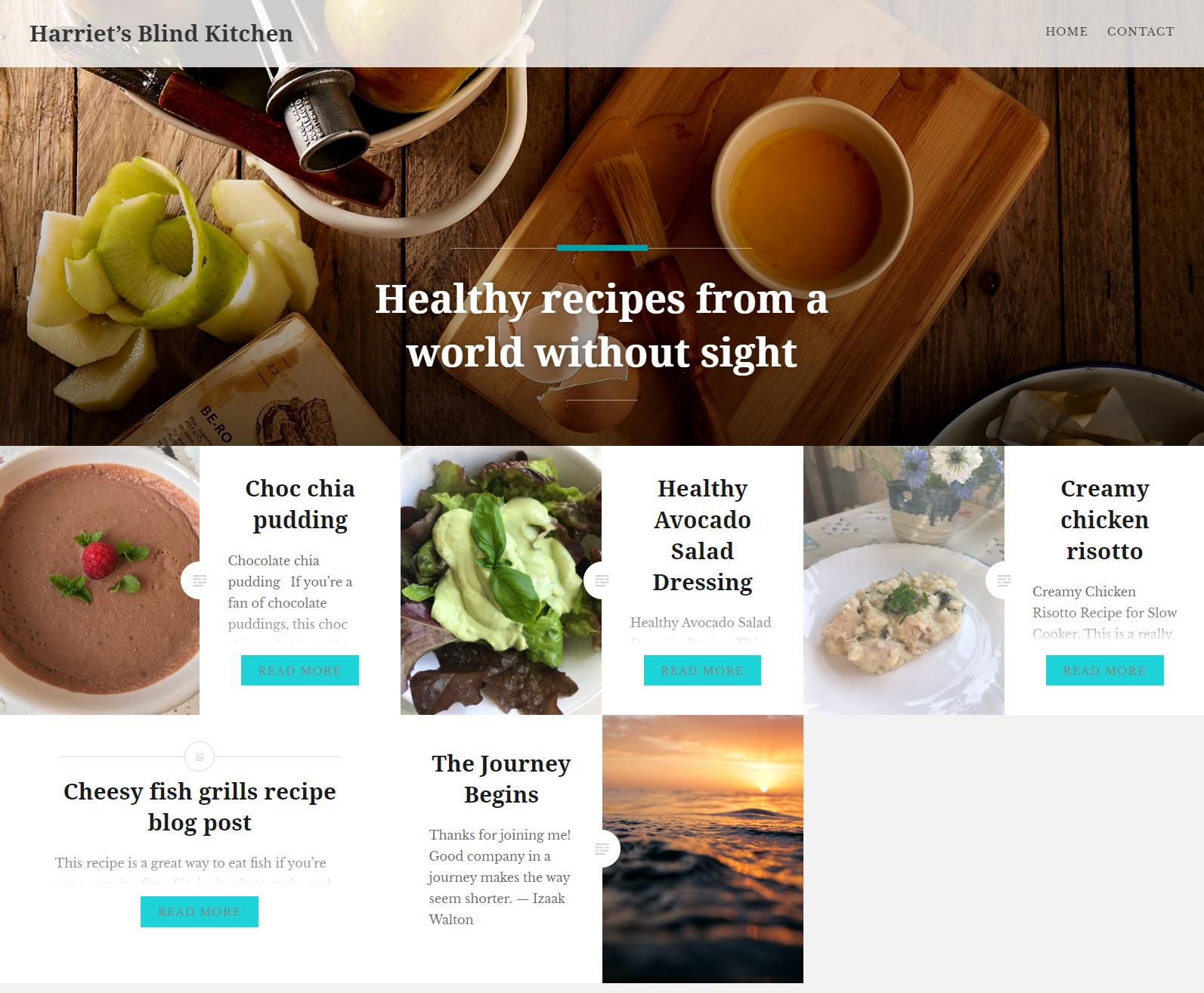 Harriet's Blind Kitchen Blog