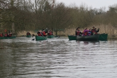 Young people canoeing.